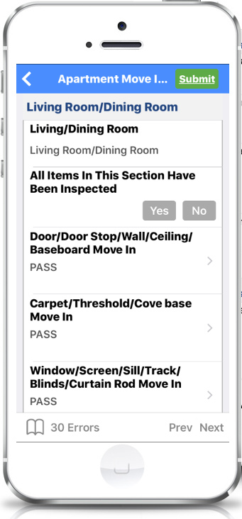 offline Property inspection app