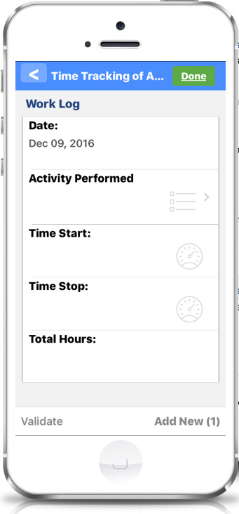 offline timesheet activity tracking